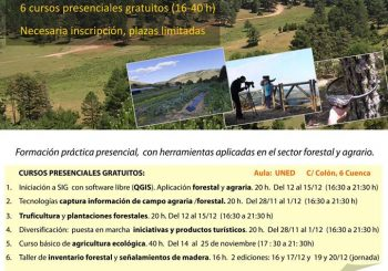 Cursos de formación forestal, agraria y turística